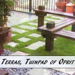 offertes terras of tuinpaden