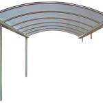 carport gebogen dak